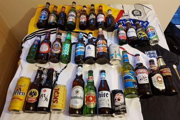 Англичанин собрал коллекцию пива всех стран-участниц ЧМ-2018